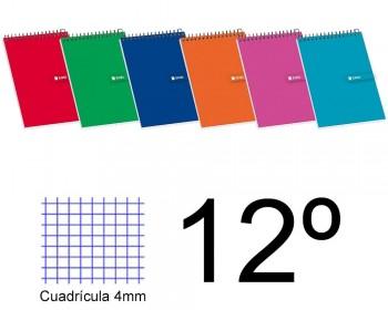 BLOC ESPIRAL DOCEAVO APAISADO CUADROS 4X4 TAPA BLANDA 80 H. 60 GR ENRI
