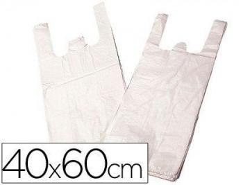 BOLSA PLASTICO CAMISETA BIODEGRADABLE 40 X 60 COD. 63747
