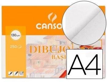 PAPEL DIBUJO BASIK A4 210X297 -130 GR -SIN RECUADRO CANSON 200401405 COD 17854