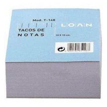 TACO ENCOLADO 500 HOJAS NOTAS BLANCAS 100 X 100  LOAN T-148