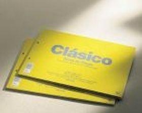 BLOC DIBUJO UNIPAPEL CLASICO ESPIRAL 230X330MM 20 HOJAS 100G/M2 SIN RECUADRO 2 TALADROS PERFORADO