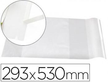FORRALIBRO LIDERPAPEL Nº29 CON SOLAPA AJUSTABLE ADHESIVO 293 X 530 MM
