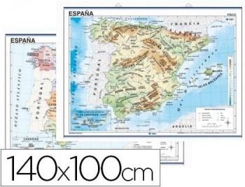 MAPA MURAL EUROPA FISICO/POLITICO -140 X 100 CM COD. 04913
