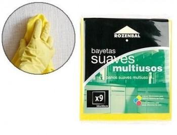 BAYETA MULTIUSO 36X40 CM PACK DE 9 UNIDADES COD 62888