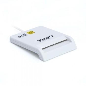 TOOQ - LECTOR DE TARJETAS INTELIGENTES EXTERNO + DNI-E USB 2.0 COLOR BLANCO