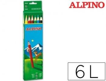 LAPICES DE COLORES ALPINO 653 C/ DE 6 COLORES LARGOS COD 28326