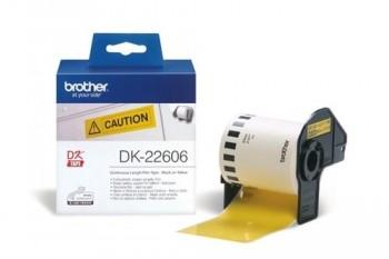 BROTHER DK22606 CINTA  PELICULA PLASTICA CONTINUA AMARILLA 62MM X 15,24M