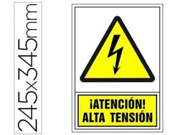 PICTOGRAMA SYSSA SEÑAL DE ADVERTENCIA ATENCION! ALTA TENSION EN PVC 245X345 MM COD 76018