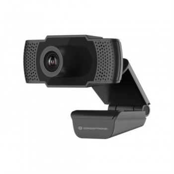 CONCEPTRONIC - WEBCAM FHD AMDIS - 1080P - USB 3.6MM - 30 FPS - ANGULO VISION 90º - MICROFONO INTEGRA