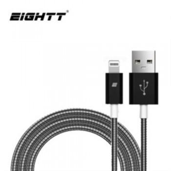 CABLE USB A IPHONE - 1.0M EIGHTT- TRENZADO DE NYLON COLOR NEGRO