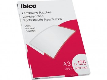 C/ 100 FUNDAS PARA PLASTIFICAR DIN A-3 125 MICRAS IBICO BASICS