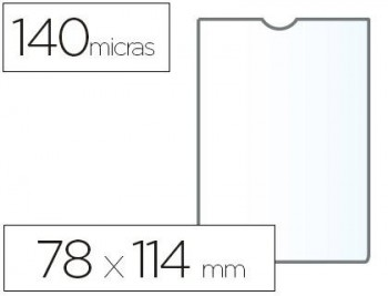 C/ 100 FUNDAS PORTACARNETS 75Q 78X114 MM PVC TRANSPARENTE 140 MICRAS ESSELTE RF. 46003