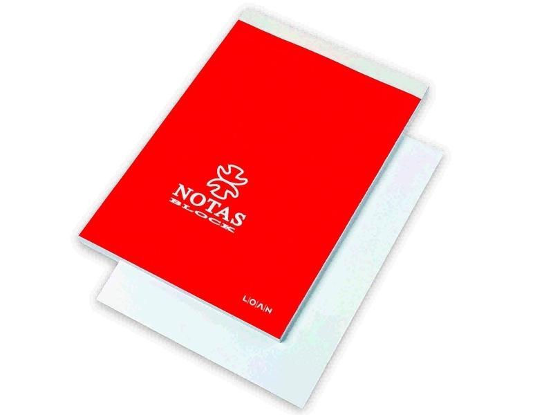 BLOC NOTAS 1/16 CON TAPA LISO LOAN MOD. T-516/B