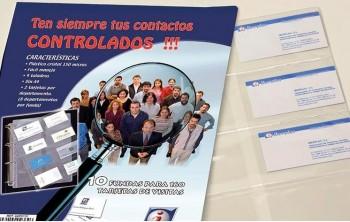 BOLSA 10 RECAMBIOS FUNDAS A4 PORTATARJETAS PVC 4 TALADROS 8 DEPARTAMENTOS IBERPLAS