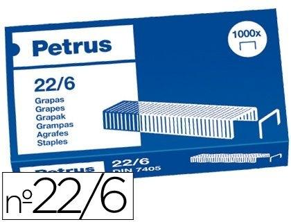 CAJA 1.000 GRAPAS 22/6 PETRUS