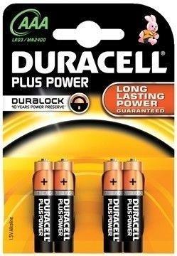 BLISTER 4 PILAS DURACELL PLUS POWER LR3 AAA