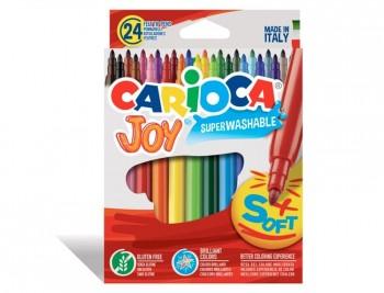 ROTULADOR CARIOCA JOY CAJA DE 24 COLORES  COD 13258