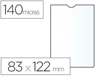 C/ 100 FUNDAS PORTACARNETS 80Q 82X122 PVC TRANSPARENTE 140 MICRAS ESSELTE RF 46004
