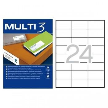 C/ 100 HOJAS ETIQUETAS 70X37 MULTI 3 RF 04704