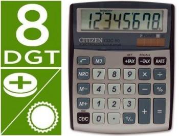 CALCULADORA CITIZEN SOBREMESA CDC-80 8 DIGITOS PLATA COD 32963