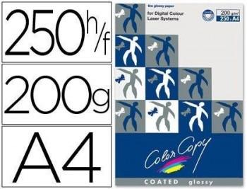 PAPEL FOTOCOPIADORA COLOR COPY GLOSSY DIN A4 200 GRAMOS PAQUETE 250 HOJAS COD. 31679