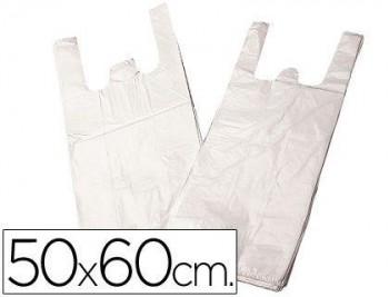 BOLSA PLASTICO CAMISETA 50X60 CM -PAQUETE 200 17,5 MICRAS COD. 28097
