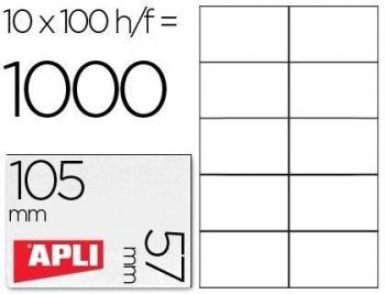 C/ 100 H. ETIQUETAS BLANCAS ILC 105,0 X 57,0 APLI RF. 1278