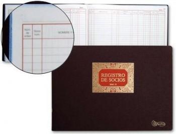 LIBRO MIQUELRIUS N. 13 FOLIO APAISADO 100 HOJAS -REGISTRO DE SOCIOS COD 4648