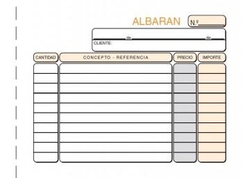 TALONARIO LOAN ALBARANES T-124 1/8 APAISADO TRIPLICADO
