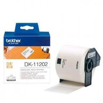 ETIQUETA ADHESIVA BROTHER DK11202 -TAMAÑO 62X100 MM PARA IMPRESORAS DE ETIQUETAS QL -300 ETIQUETAS-