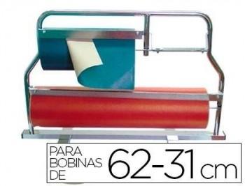 PORTARROLLO MOSTRADOR CORTA PAPEL PINTADO PARA BOBINAS DE 62-31 CM COD. 00428