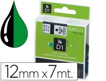 CINTA DYMO D1 BLACK/GREEN 12MM S0720590